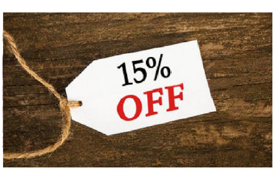 Приглашайте друзей и получайте 15% скидку