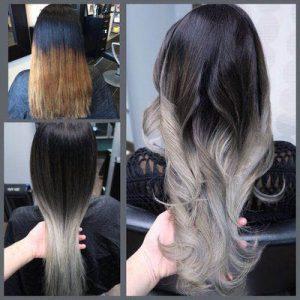 до и после декапирования волос