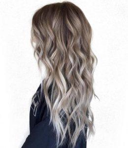 Пример окрашивания длинных волос 1