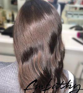 Окрашивание длинных волос в «Ланза Эмпатия»